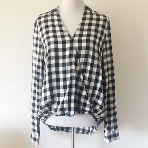 WRAP-FRONT SHRIT IN BUFFALO CHECK MEDIUM
